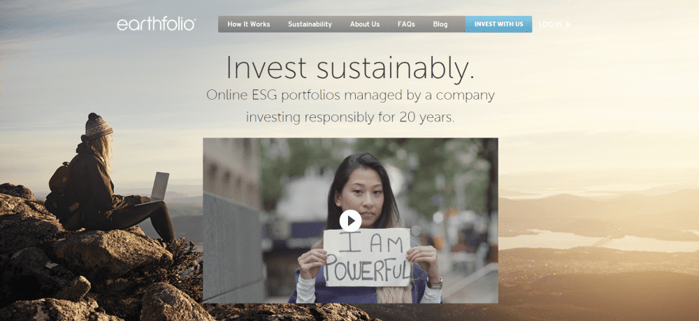 Earthfolio website