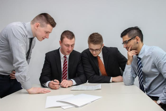 A group of investors meeting