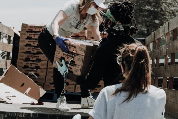 NGO doing charity work