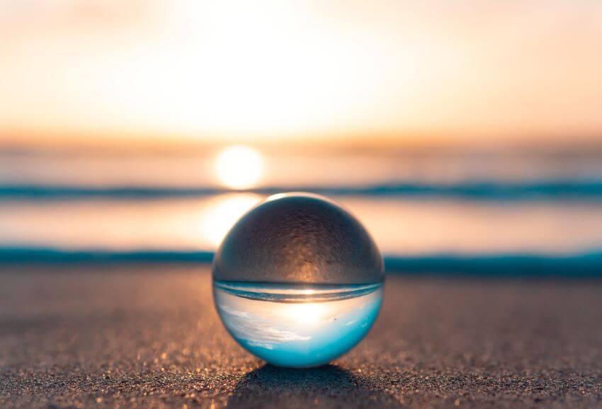 Crystal Ball By The Ocean